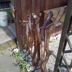 Gartenzaun aus Totholz