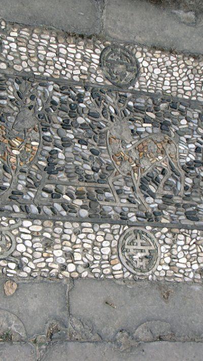 Gartenweg Mosaik mit Tieren in China